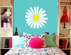 Daisy Wall Decal Flower Decal by JensVinylDecals on Etsy