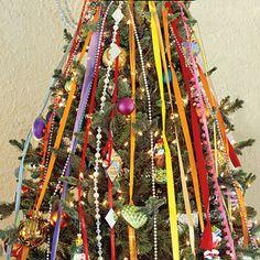 Christmas Decorating Ideas: Tree Ribbons - 101 fresh christmas decorating ideas - Southern Living