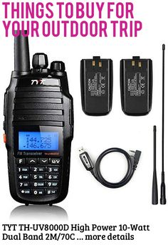 (This is an affiliate pin) TYT TH-UV8000D High Power 10-Watt Dual Band 2M/70CM Two Way Radio Cross-Band Repeater Amateur Hand held Transceiver HAM, with Free Backup Battery