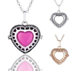 2016 Charms Jewelry Heart Locket Pendant Cage With Bell Random Color Long Sweater Chain Necklace Essential Oil Aromatherapy Diffuser From Happytraveltime, $7.54 | Dhgate.Com