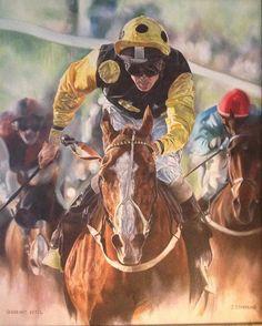 Sergeant Cecil #horseracing #flatracing #jockey #racing #oiloncanvas #fineart #horsesinart #horse #horsesofinstagram #horse #originalart #originalartwork