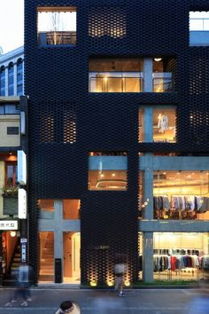 younghan chung + studio archiholic: poroscape in insadong, seoul architecture-and-design Retail Architecture, Brick Architecture, Amazing Architecture, Contemporary Architecture, Architecture Details, Chinese Architecture, Futuristic Architecture, Building Exterior, Building Facade