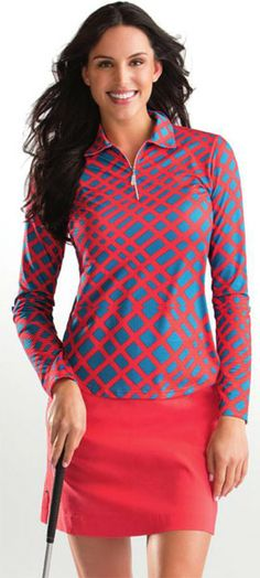 This performance collection of Color Pop Bette & Court/Swing Ladies & Plus Size Golf Outfit Activewear covers a full spectrum of benefits. The integrated sun protection with SPF standards, functional athletic lines and a smooth comfortable feel deliver for an active lifestyle.