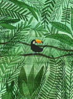 Jungle on behance illustration jungle illustration, illustra Art And Illustration, Jungle Art, Jungle Drawing, Forest Drawing, Guache, Art Design, Wall Art Prints, Drawings, Artwork
