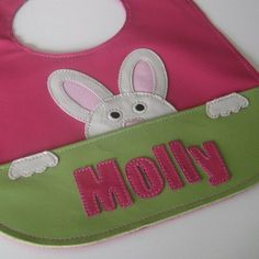 Cute idea to make bib with paws on pocket~~Mally Leather Baby Bib Perfect for Easter but by MallyDesigns