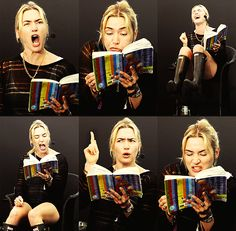 "Kate Winslet reads. Kate Winslet reads ""Mr. Gum"" to a group of young children at the Port Eliot Festival."