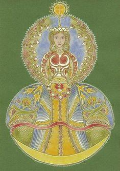 Central Europe, Deities, Mythology, Folk Art, Mandala, Marvel, Christian, Christmas Ornaments, Holiday Decor
