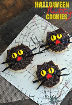If you loved the Halloween Kitty Cupcakes I shared last week with you, check out these super cute Halloween Kitty Cookies!    Halloween Kitty Cookies Cat Cookie Ingredients - 1 package of Betty Crocker sugar cookie mix chocolate frosting for the cat's face chocolate sprinkles for the cat's face black licorice, cut into strips …