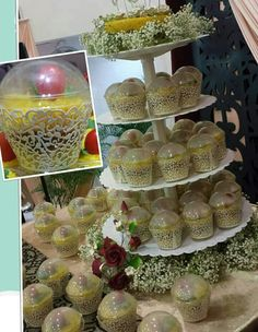 Pulut kuning instead of wedding cake in a malay wedding