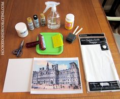 Transferring a photo (or any other image) onto canvas.  She clearly outlines the steps and provides helpful tips.