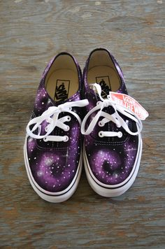 Galaxy VANS purple by Sophiescustomshoes on Etsy