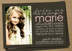 Boy/Girl Printable Baptism, Blessing Invitation/Announcement (Tanner baptism, blessing, christening invitation) via Etsy