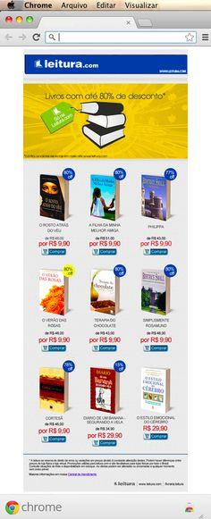 E-mail Marketing, Livraria Leitura.