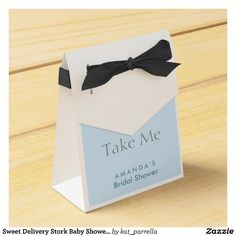 Sweet Delivery Stork Baby Shower Favor Box | Zazzle.com