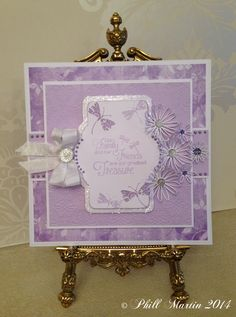 8x8 card, made using my new Inspirational Quotes stamps (embossed with the graceful lilac embossing powder), my new Flourish Dragonflies & Butterflies stamps and my new Graceful Butterflies & Dragonflies paper pad :-)