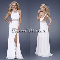Love love love this white prom dress!!