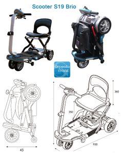 #scooterelectrico http://www.ortopediaenlinea.com/producto/scooter-s19-brio/  La S19 Brio, la Scooter más pequeña de Apex, cuenta con un diseño inteligente que permite un perfecto ahorro de espacio. Es ideal para la vida urbana. Para personas con movilidad reducida.