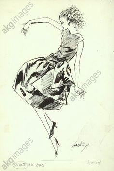 Cocktail dress, circa 1958 © akg-images / Gerd Hartung