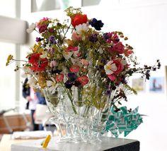 Multi vase.  Seen in temporary exhibition near EYE in Amsterdam