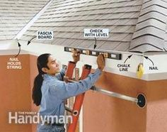 Create stronger, better-looking gutters by modifying standard gutter systems. assemble strong, sleek-looking seams; and add roof flashing to keep water flowing into the gutters where it belongs. House Gutters, Diy Gutters, Rain Gutter Installation, Seamless Gutters, Roof Flashing, How To Install Gutters, Roofing Contractors, Home Repairs, Diy Projects