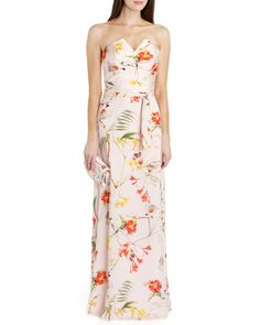 6ae581ccd8885d Botanical bloom print maxi dress - Pale Pink