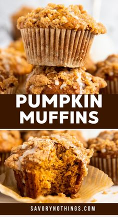 These Pumpkin Crumb Muffins are easy to make and turn out perfectly delicious. The crumb topping makes these extra special! I love all things pumpkin during the autumn season, and especially baked goods with pumpkin - for breakfast, brunch or as an after school snack! | #pumpkin #pumpkinrecipes #muffins #holidayfood #holidayrecipes #holidaybaking #fallrecipes #fallfood #fallbaking #pumpkinspice #autumn #autumnrecipes #muffins #breakfastrecipes #brunch #thanksgiving #thanksgivingfood… Homemade Desserts, Easy Desserts, Delicious Desserts, Dessert Recipes, Breakfast Recipes, Pumpkin Pie Recipes, Fall Recipes, Holiday Recipes, Easy Baking Recipes