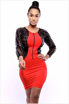 Red Black Hollow Womens Bodycon Mini Dress Evening Party Cocktail Clubwear M L #Unbranded #WigglePencil #Cocktail  $19.99  asian sz.