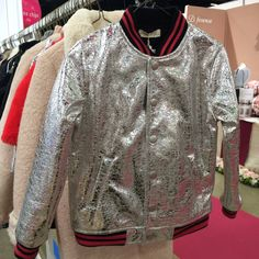 Metallics strong again for kidswear fall/winter 2016 here by Anais and I at Playtime Paris