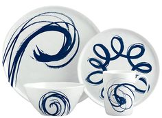 Margaret Berg Art: Blue Brushstroke Dinnerware