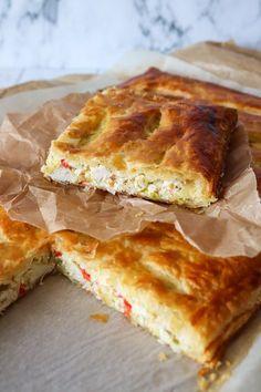 Nem Og Lækker Kyllingetærte Bagt I Butterdej – Denne her tærte er så nem og virkelig lækker! Fyldet er bagt i mellem 2 plader butterdej. Kylling og flødeost går bare godt sammen med butterdej. Tærten kan nydes både varm og kold, så den er også nem at have med på tur i mindre stykker eller i madpakken med en god salat til. #tærte #kylling #butterdej #aftensmad Danish Food, First Kitchen, Meatball Recipes, Lchf, Soul Food, Tapas, Recipies, Food And Drink, Yummy Food