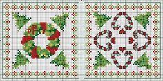 Holiday Biscornu • Charts for both Design