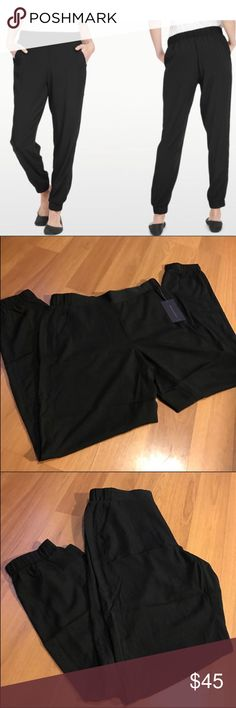 "NYDJ solid black jogger pant NWT. Solid black. NYDJ jogger pants. These on-trend pants feature Lift Tuck Technology that allows you to look and feel a size smaller. Dress these up or down! (Also have a cute printed pair available in a separate listing in my closet!). Measurements for the waist: XS (14""), Small (15""), All Pants will stretch approximately 2"" more than the given measurements. All Sizes have an approximate 27"" inseam. NYDJ Pants Track Pants & Joggers"