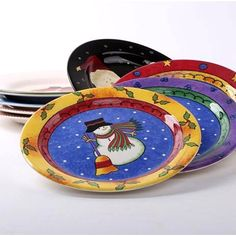 Western Christmas Elderly Snowman Ceramic Dish Plate Flat Plate Fashion Personality Decorative Cutlery Tray