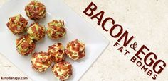 These Bacon and Egg Fat Bombs are a keto-friendly recipe. A keto diet is a low-carb diet, so keto recipes often use lots of low-carb bacon.