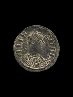 Vale of York Viking Hoard. Anglo-Saxon silver coin, penny.  Minted in London.  Findspot: North Yorkshire (Vale of York Viking Hoard)