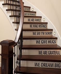 Loving this 'We Dream Big' Wall (Stairs) Decal Set  @zulily! (If only I had stairs!)