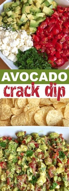 Avocado Crack Dip is part of Finger foods easy - Quick and easy avocado crack dip recipe The BEST make ahead dip you will ever make! Serve it up with chips for a party appetizer everyone will love Tasty Vegetarian, Clean Eating Snacks, Healthy Eating, Crack Dip, Avocado Dessert, Comida Latina, Appetizer Recipes, Appetizer Ideas, Meat Appetizers