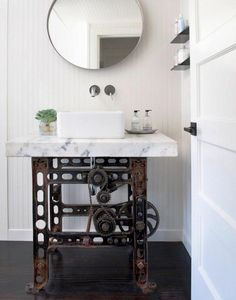 Classic and neutral, square vessel sinks look great in a wide variety of bathroom styles from industrial to cottage.