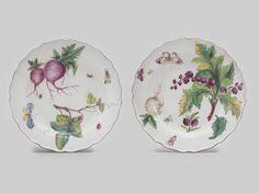 Two Chelsea 'Hans Sloane' plates, circa 1755