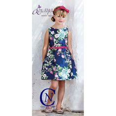 Vestido de ceremonia ARTESANIA AMAYA estampado modelo 22799
