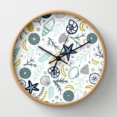 Shell Pattern  Wall Clock