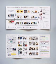 クリエイティブデザイン学科リーフレットを制作しました。 学科での4年間の学びと、教員・施設などの情報をコンパクトにまとめています。また、掲載写真をキーに、AR(COCOAR)で詳細動画を見る事が可能です。