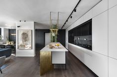 Apartment in Tel Aviv by Aviram Kushmirski « HomeAdore www.fiori.com.au modern kitchen design ideas