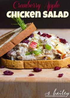 Cranberry Apple Chicken Salad via Ari's Menu