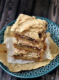 It's hard to resist these gorgeous Brown Sugar Meringue Coconut Cookie Bars! | MomOnTimeout.com | #dessert #recipe #bars #coconut