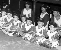 Cleveland Indians dugout prior to a Father & Son game in 1963