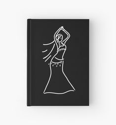 Cute figurative line drawing of a belly dancer. Canvas Prints, Art Prints, Belly Dancers, Line Drawing, Figurative, Line Art, Stationery, Journal, Drawings