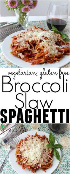 Broccoli Slaw Spaghe