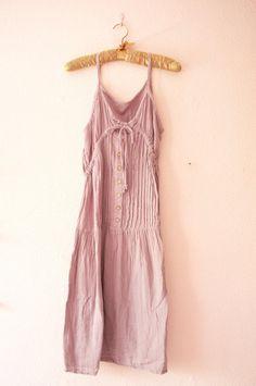 Etsy.com Organic cotton grey dress. Vintage. 50$
