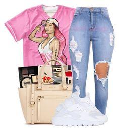 """Team Barbie"" by str8-savage ❤ liked on Polyvore featuring Nicki Minaj and NIKE"